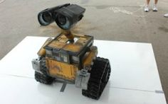 Mike Senna, a California inventor, spent two years creating a life-size Wall-E. The result is awesome.