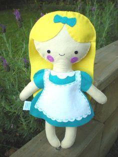 Felt Alice in Wonderland Doll