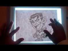 cartooningwithcarl shows how to use the Artograph LightPad 930! Quick example but effective!