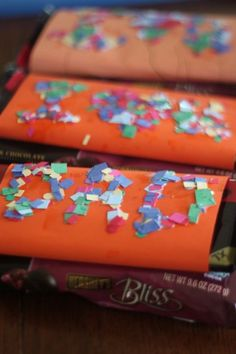 Super easy Father's Day craft for the kids to make - candy wrappers!