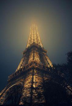 paris, eiffel tower, towers, fog, beauti