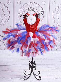 All American Freedom Flower Baby Girl Tutu Dress