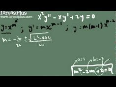 Ecuación de cauchy – Euler (raíces complejas conjugadas)