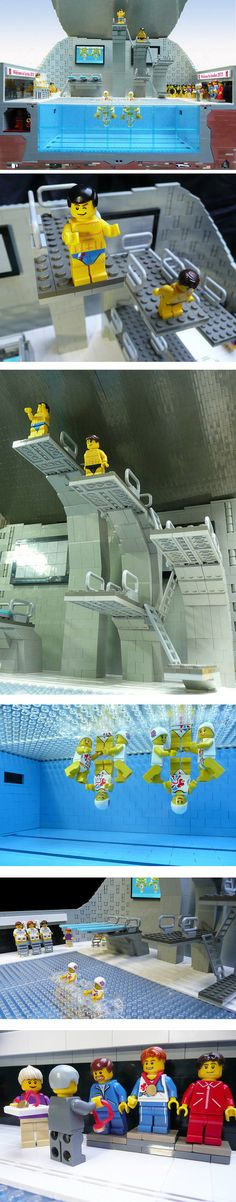 The 2012 Olympic Pool Made From LEGO #London2012 #Olympics