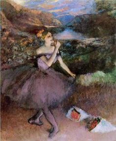 Edgar Degas, French, Dancer with Bouquets  (1890-5)