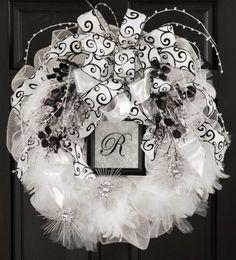 decomesh, deco wreaths, craft patterns, door, deco mesh wreaths, wedding wreaths, wedding centerpieces, art deco, new crafts