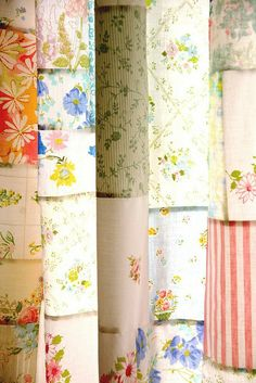 curtains from vintage sheets - oh so pretty