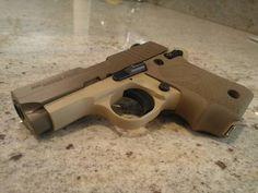 Love the two tone desert scheme. firearm, sig 238, sig sauer