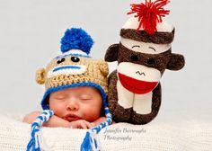 Sleepy Sock Monkey! Newborn photo- Jennifer Burroughs Photography GA