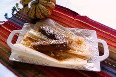 Tamales de Calabaza (Pumpkin Tamales) HispanicKitchen.com