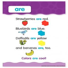 "Sight Word Poem: ""are"""