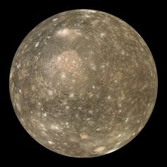 Callisto, fourth moon of Jupiter.