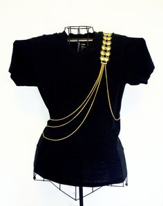 Body Chain Jewelry  Body Harness  Epaulette  by DukeofJahan, $45.00      #dukeofjahanjewelry #epaulette #chain #bodyharness #bodynecklace #jewelry #gold #flowers #cute #etsy #fashion #ootd #trend