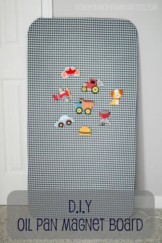 Oil pan magnet board with fabric