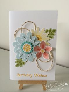 Created by Kirsty Cooley @ StampIN-K using the Stampin' Up! Flower patch bundle.