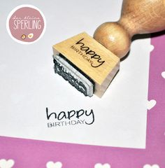 Stempel ♥ happy Birthday ♥ Textstempel