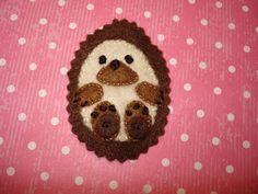 cupcake cutie: Hedgehog Brooch tutorial