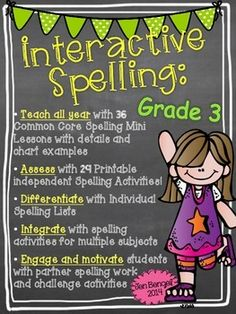 This year-long resource is packed with Common Core spelling lessons, activities, games, and much much more!! Teach spelling/word work in a new way with this differentiated spelling resource!!