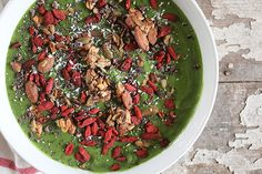 Stripped Green Smoothie Bowl
