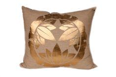 Gold & Khaki Medallion Pillow @flea_pop