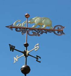 Cal Bear Banner Weathervane by West Coast Weathervanes.