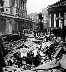 Blitz, east end London, WW2