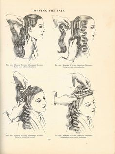 Marcel Waves, page from a1920's Hairdressing Book