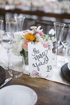 illustrated table numbers // photo by Love Me Do