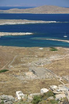 Azur Blue Water around Ancient Delos, Greece