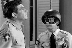 Barney Fife and Andy Taylor.  Lawmen extraordinaire.