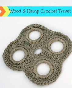 Wood & Hemp Crocheted Trivet - Seven Alive