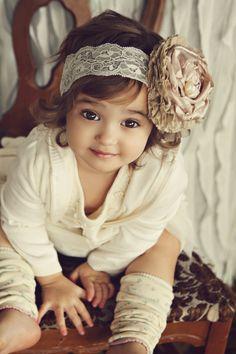 Love the headpiece... little girls, flower headbands, children, babi, baby girls, flower girls, eye, leg warmers, kid