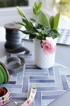watercolor painted patterns found @decor8. so pretty.