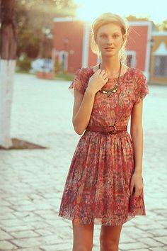 summer dresses, mesh dress, outfit, sweet dress, dress anthropologi