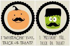 holiday, halloween printabl, halloween craft, printables, mustach printabl, fall favorit, halloweeni, halloween ideasdecor, fall idea