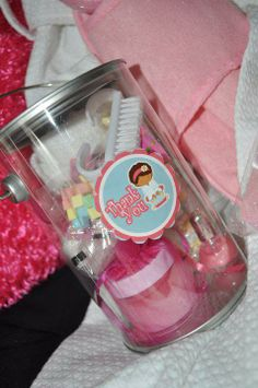 Spa Party Favor Pail with Favors can be Customized by A Lil Something to Remember