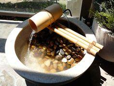 diy fountain, outdoor fountains, backyard, bamboo fountain