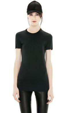 Get Dressed / Acne Bliss Nylon Black Noir t-shirt