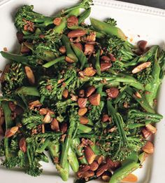 Broccolini with Smoked Paprika, Almonds, and Garlic