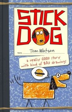 amazoncom, stick dog, friends, dogs, sticks, kid book, tom watson, stripe, hamburgers