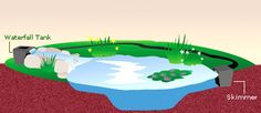 Backyard ponds on pinterest ponds small ponds and small for Koi pond skimmer design