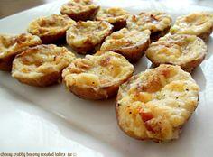 Cheesy Crabby Bacony Roasted Taters
