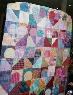 scrappy hearts quilt