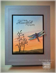Crafting The Web: Sympathy Sunset Tutorial  Gina K Designs stamps