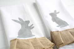 Hand Painted Easter Tea Towels by Design, Dining + Diapers,