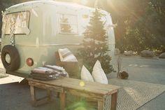 Hippi Xmas boler. outdoor carpet, vintag camper