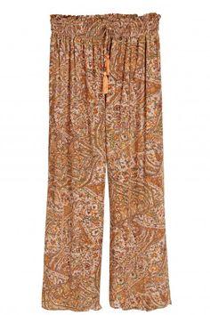 Printed silk pants
