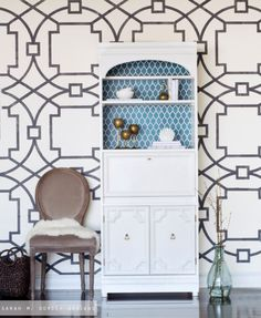 Large Fretwork Reusable Wall Stencil