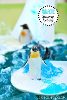 Antarctic Sensory Iceberg - Sensational Winter Sensory Play Series by Crayon Box Chronicles winter, small world play, boxes, sensori play, sensory play, activ, crayons, box chronicl, crayon box