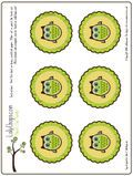 Free printable owl circles